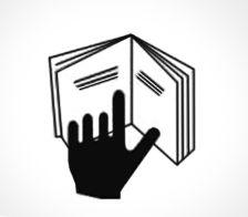 Oznakowania na kosmetykach - ręka na książce